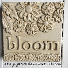 Plaster Art, Iron Orchid Designs, Air Dry Clay, Wooden Blocks, Zinnias, Cold Porcelain, Pyrography, Orchids, Daisy