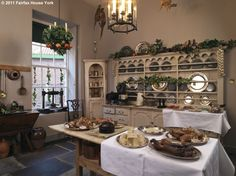 A view of the Kitchen at Fairfax House decorated for Christmas (copyright Fairfax House 2011)