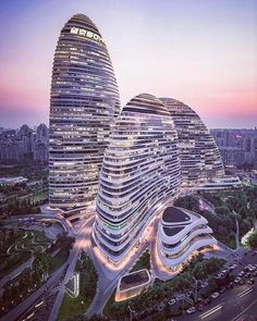 Wangjing SOHO | Zaha Hadid Architects Photo via @ pravilion Instagram.