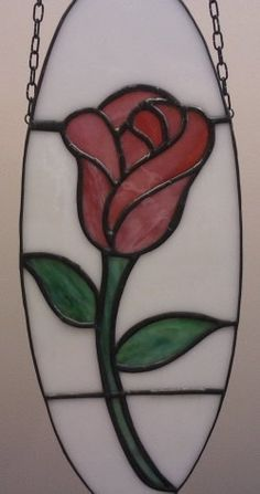 Mini Stained Glass Rose Panel
