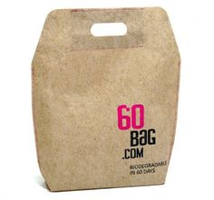 A carrier bag which biodegrades in 60 days. Form + Function.