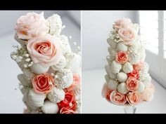 (2) DIY DIPPED STRAWBERRY & ROSE TOWER - GORGEOUS! - YouTube