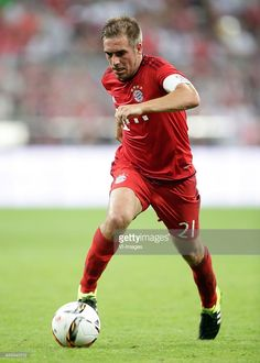 Philipp Lahm of FC Bayern Munchen during the AUDI Cup final match between Real Madrid and FC Bayern Munich on August 5, 2015 at the Allianz Arena in Munich, Germany