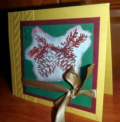 Cristmas Card with Pinecone by Kika's Designs