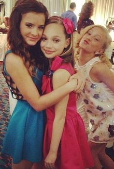 Brooke, Maddie, and Paige at Melissa's wedding
