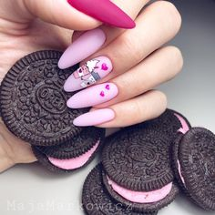 35 Beautiful Pink Nail Designs Trying to find new and colorful nail art designs can be a struggle. Trying to think of original ideas is time-consuming, especially in summe Really Cute Nails, Cute Pink Nails, Pink Nail Art, Fun Nails, Glitter Nails, Pretty Nail Art, Cute Nail Art, Nail Swag, Jolie Nail Art