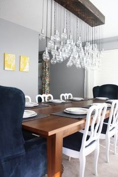 DIY Success Story: A Handmade and Handwired Cluster Chandelier Love and Renovations | Apartment Therapy