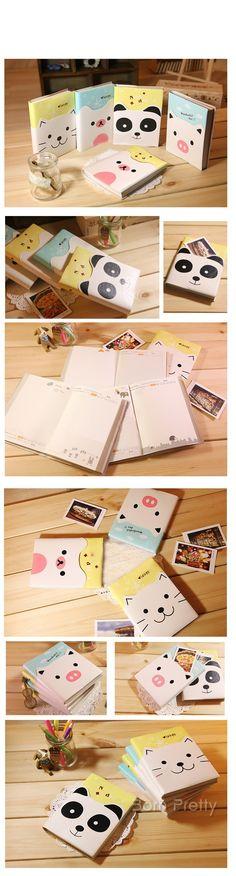 $4.59 1 PC Small Pure and Fresh Cartoon Notebook Lovely Leather Diary (Random Pattern) - BornPrettyStore.com