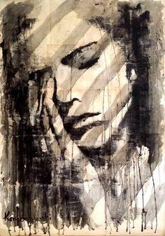 "Saatchi Art Artist Krzyzanowski Art; Drawing, ""Life's pain"" #art"