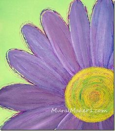 1000 ideas about daisy painting on pinterest paintings for Easy way to paint flowers