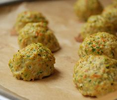 """Multiply Delicious- The Food   Chicken Veggie Meatballs with Pesto Zucchini """"Noodles"""""""