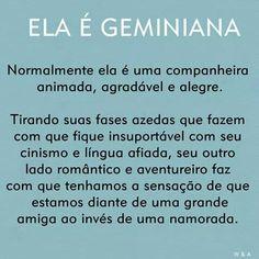 Meninos não leiam isso !!! Gemini Sign, Words Worth, Confidence Building, Love You, My Love, Feeling Special, Astrology, Zodiac, Feelings