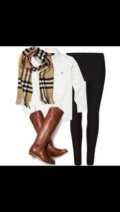 dressy casual outfit for a preppy chic and classy fall look