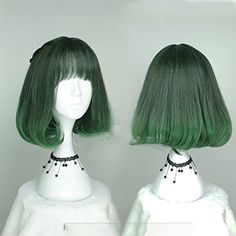 Suuny Queen New hot high quality Middle long wavy womens ombre Deep Green T Green color synthetic hair wigkorean rose hairnet kanekalon fibre wig For Black Women ** Continue to the product at the image link.Note:It is affiliate link to Amazon.