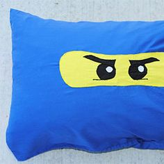 A favorite for little boys-it's a Ninjago pillowcase including pattern and tutorial.