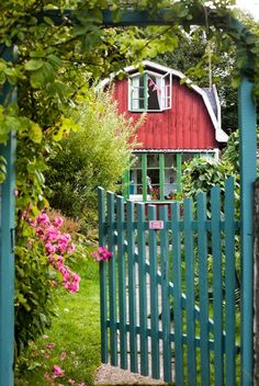 Red House and a Blue Gate