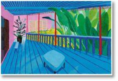 Paris for FIAC: Did you miss David Hockney exhibition at Centre Pompidou? (David Hockney, Garden with Blue Terrace, David Hockney Art, David Hockney Paintings, David Hockney Ipad, Tate Modern London, London Art, Wessel, Pop Art Movement, Tate Britain, Oldenburg