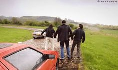 The boys after driving all wet #TopGear. Pinned by http://FlanaganMotors.com