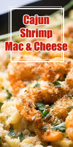 If you are ready to spice things up in the kitchen then you need to try this mac and cheese recipe! Cajun spiced shrimp restes on top of the creamiest, cheesiest pasta for the ultimate mac and cheese recipe! Healthy Pasta Salad, Healthy Pastas, Ultimate Mac And Cheese, Main Dishes, Side Dishes, Best Pasta Dishes, Chicken Carbonara, Instant Pot Pasta Recipe, Slow Cooker Pasta