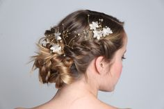 #tocados #headpiece #novias #bride #bronce #flores #cuarzos #jade #piedrasnaturales
