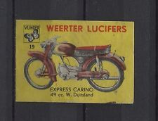 Express Carino 49 CC Motorbike/Moped Weerter Vintage Matchbox Label No.19 | eBay