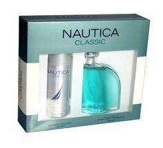 Nautica By Nautica For Men. Gift Set ( Eau De Toilette Spray 3.4 Oz + Deodorant Body Spray 150 Ml ). by NAUTICA. $23.31. Packaging for this product may vary from that shown in the image above. This item is not for sale in Catalina Island. Nautica Cologne Gift Set (Eau De Toilette Spray 3.4 Oz + Deodorant Body Spray 150 Ml) for Men by Nautica.. Save 64%! Body Spray, Smell Good, Male Beauty, Cologne, Deodorant, Vodka Bottle, Fragrance, Gift, Packaging