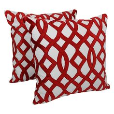 Add a touch of elegance and a vibrant splash of color to your home décor with these throw pillows.  These throw pillows feature an elegant trellis velvet applique design that fuses comfort and modern style into stunning beauty.