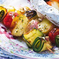 Bunte Gemüse-Kartoffel-Spieße