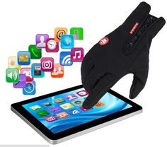 Unisex Classic Black Winter Warmer Gloves & Mittens Driving Touch Screen Gloves