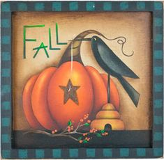 rene mullins fall painting | Painting instructions and pattern are by Maxine Thomas in the book ...