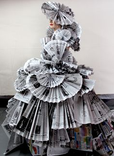 The Newspaper Dress