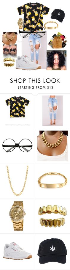 """""""Bart @ it again"""" by th30fficial6re ❤ liked on Polyvore featuring ZeroUV, Gogo Philip, Bling Jewelry, Vernier, Reebok and Palm Angels"""