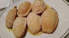 Madeleines! With lemon curd