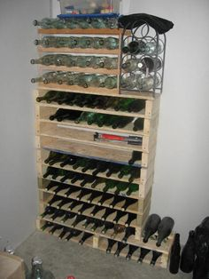 wine rack...not all from pallets but base is