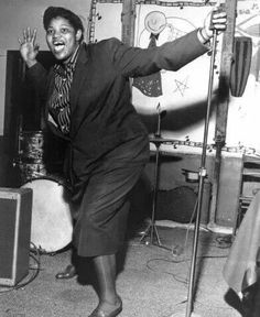 Big Mama Thorton, sang the original version of Hound Dog that made Elvis Presley so famous. I prefer her version.