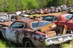There are salvage yards, and then there's this place in Anderson, Alabama, which has over 700 Dodge vehicles, mostly Chargers, sitting in an expansive yard and slowly rusting into nothing.  #Dodge #Mopar