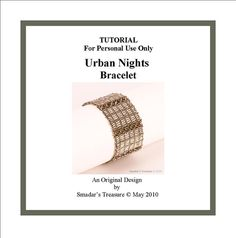 Beading Tutorial - Urban Nights Bracelet - PDF File Tutorial for Personal Use Only on Etsy, $5.00