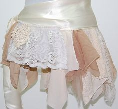 Custom Made to Order- Boho Belt, Sash, Hip Scarf, Tattered, Lace, Fairy, Woodland, Hippie, Gypsy, Eco Earth Friendly, Upcycled Clothing