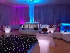 Luxury Lounge ATL, Alpharetta — Plush lounge sofas, crystal chandeliers, drapery, lighting, LED illuminating furniture, all included at Luxury Lounge ATL.