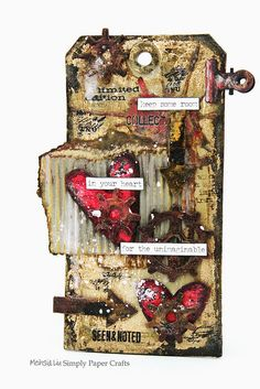 Simply Paper Crafts: Mixed Media Grunge Tag Keep Room for Heart