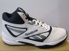Uk size 9.5 - #reebok #classic pro heritage 1 basketball trainers - #white / navy,  View more on the LINK: 	http://www.zeppy.io/product/gb/2/331786985411/