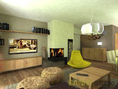 Návrh interiéru spoločenskej časti rodinného domu v Alžbetinom dvore. Living Room Decor, Studio, Home Decor, Drawing Room Decoration, Homemade Home Decor, Decoration Home, Study, Interior Decorating