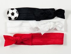 Kick off the season in style. #Soccer Ball Charm... In form of a slider on #Hairtie (#Ponytail)/Bracelet FLEXY®.