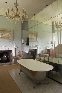 Love The Tub Fireplace Mirrors Claw Foot Bath A Vintage Must This Bathroom Is Just Stunning If My Was Like I Don T Think D