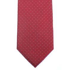 Cravate pure soie à pois - pois blanc fond