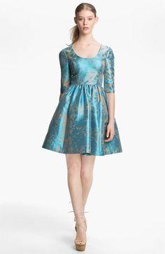 Tracy Reese Metallic Jacquard Dress