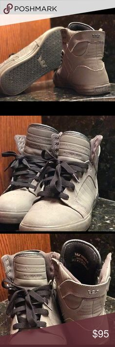 High Top Supra's SUPRA Skytop's in very good condition. Very easy to pull off for a very good price. Supra Shoes Sneakers