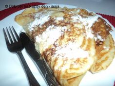 Slovakian Food, Czech Desserts, Brownie Cupcakes, Diy Food, Sweet Recipes, Baked Goods, Pancakes, French Toast, Food And Drink