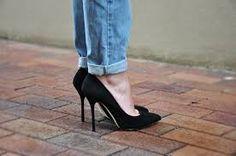 szpilki + spodnie = :)