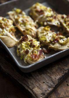 Croûtons de poireaux & bacon